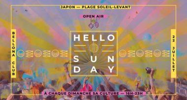 Hello Sunday Japon — plage Soleil-Levant (open air)