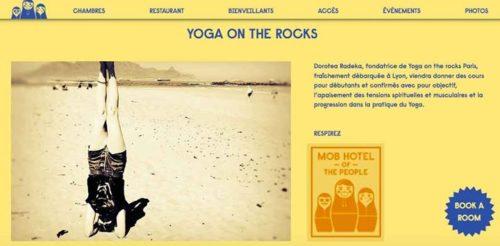 Yoga détox dynamique tous les dimanches matin à 11h au Mob Hotel