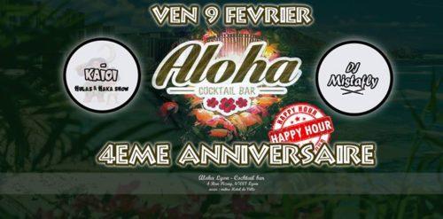 Hawaï à Lyon :4 Ans déjà! Happy Birthday Aloha!