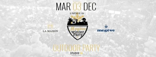 Megève Winter Party Lyon - 3 Decembre 2019