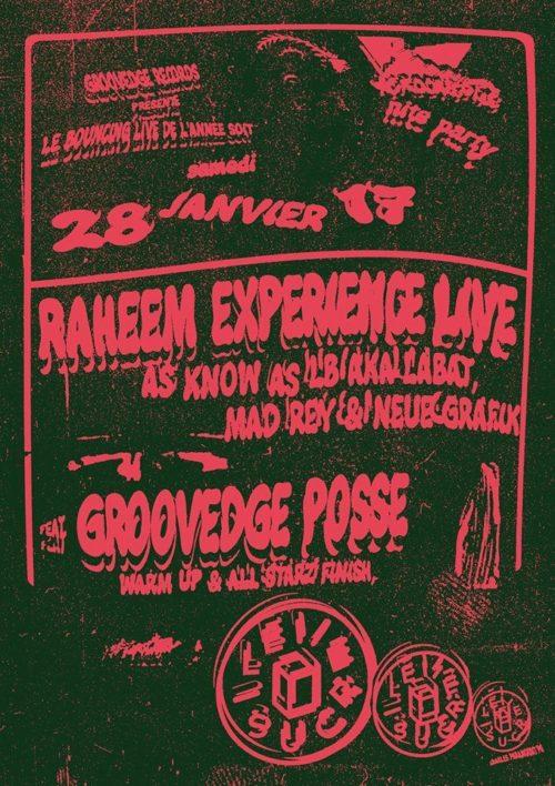 GRVDG présente Raheem Experience live featuring Groovedge Posse