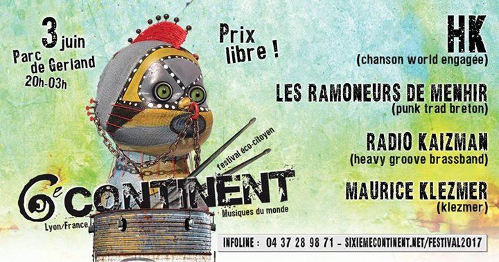 Concerts ♪ Festival 6e Continent
