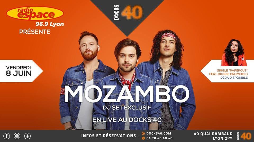 Mozambo en live au Docks 40 avec Radio Espace