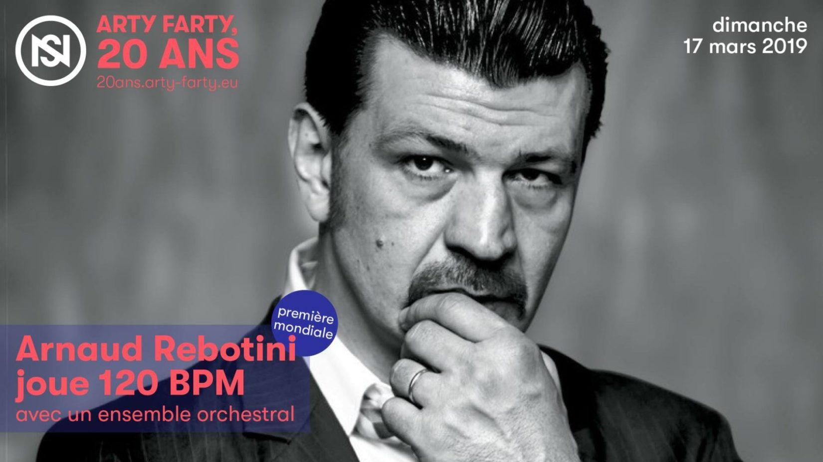 Arnaud Rebotini joue 120 BPM avec un ensemble orchestral