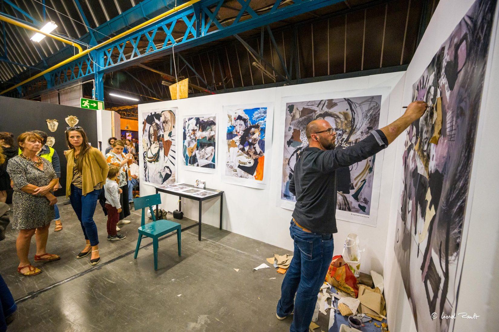 les halles du faubourg exposition peinture -