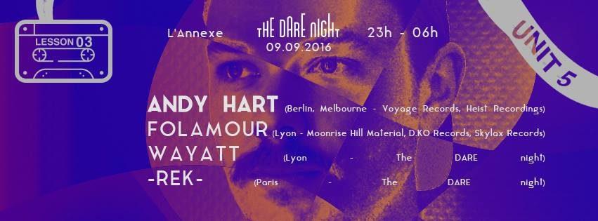 The DARE night invite ANDY HART (Voyage Rec)