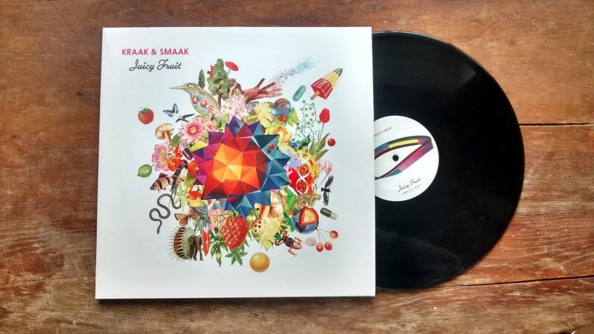 cover vinyle juicy fruit kraak and smaak