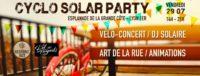 Cyclo Solar Party ! Musique live & dj grâce à l'énergie solaire et des vélos