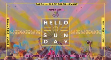 Hello Sunday Japon — plage Soleil-Levant (open air)