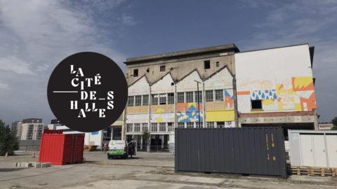 La Cité des Halles Lyon 7 vue de l'extérieur avec logo