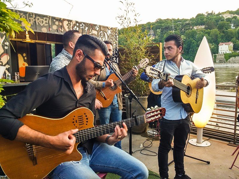 Inauguration terrasse Celcius musique